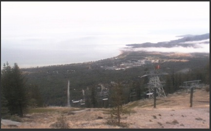 Heavenly Valley Ski webcam screen capture on morning of 10/28/16