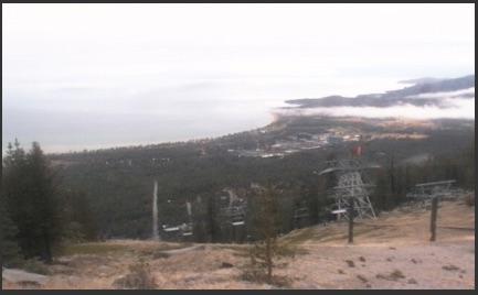 Heavenly Valley Ski webcam screen capture on morning of 10/28/16