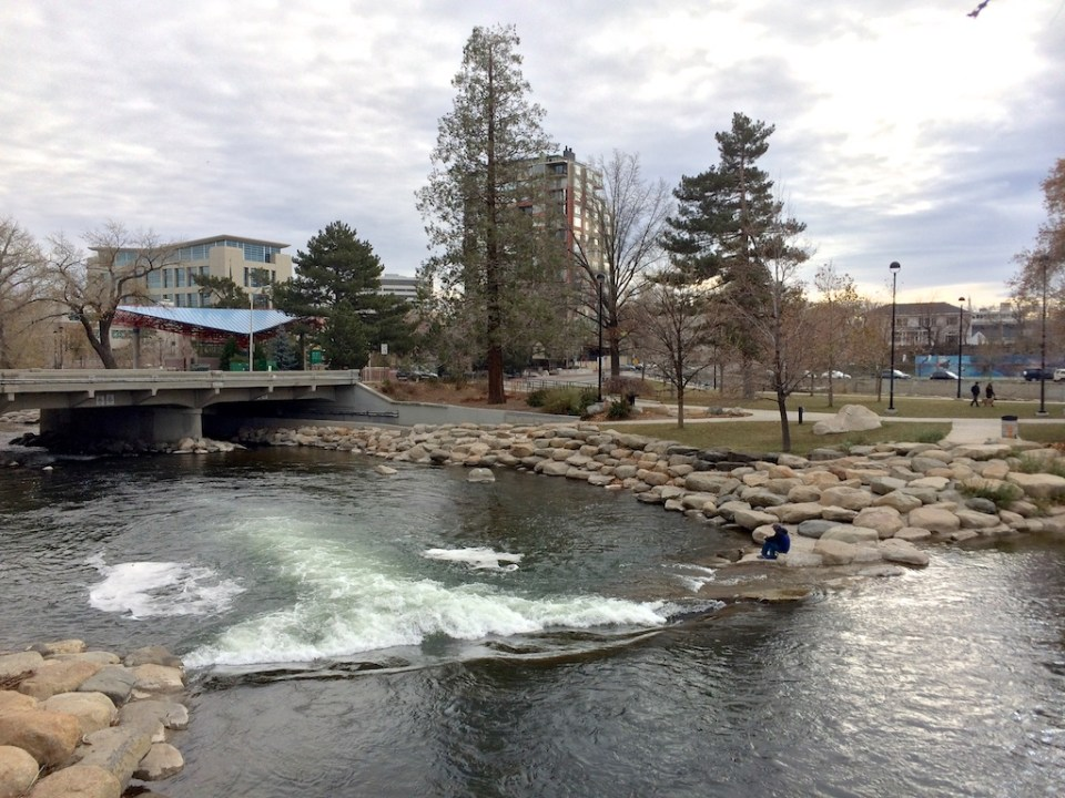 Truckee River at about 200 CFS on December 4, 2016 during dry weather.