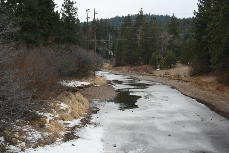 Downstream from the Lake Tahoe Dam, Jan 9, 2015.