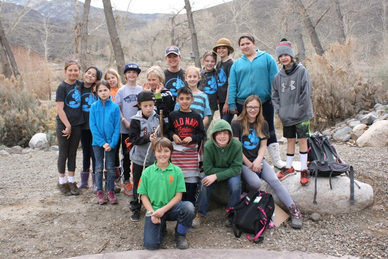 Mrs. Akers and some of the students from the 4th and 5th grade classes at Sierra Expeditionary Learning School. McCarran Ranch, Mar 10, 2015.