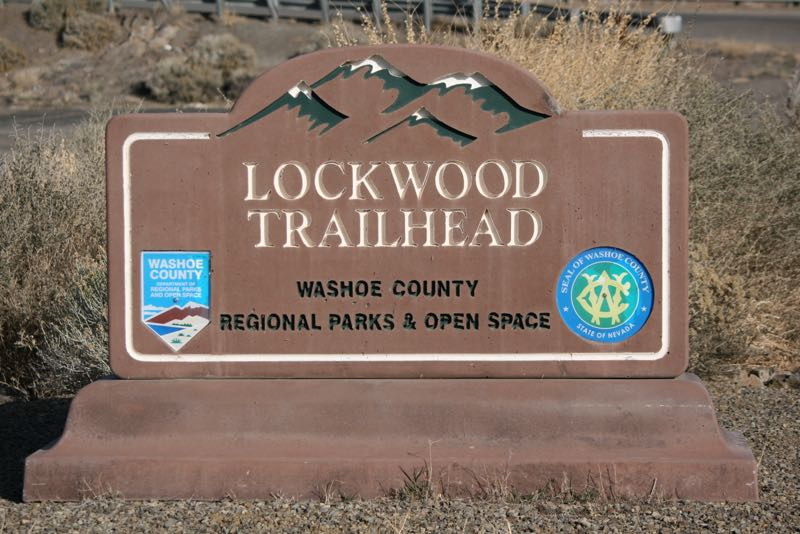 Lockwood Trailhead, a Washoe County Park.