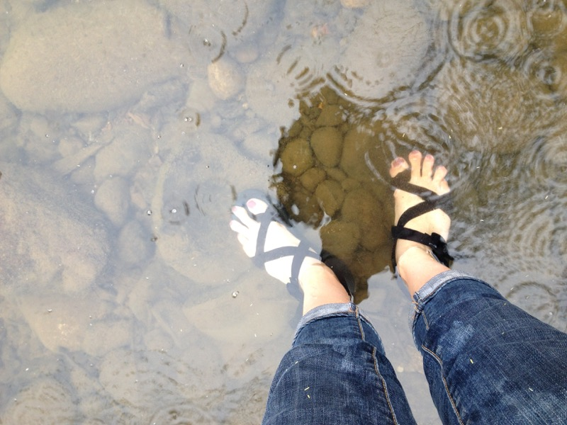 Wet feet. Mayberry Park, June 10, 2015.