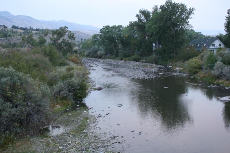 Truckee River flowing approx 25-50cfs, Dorostkar Park. Sept 12, 2015.