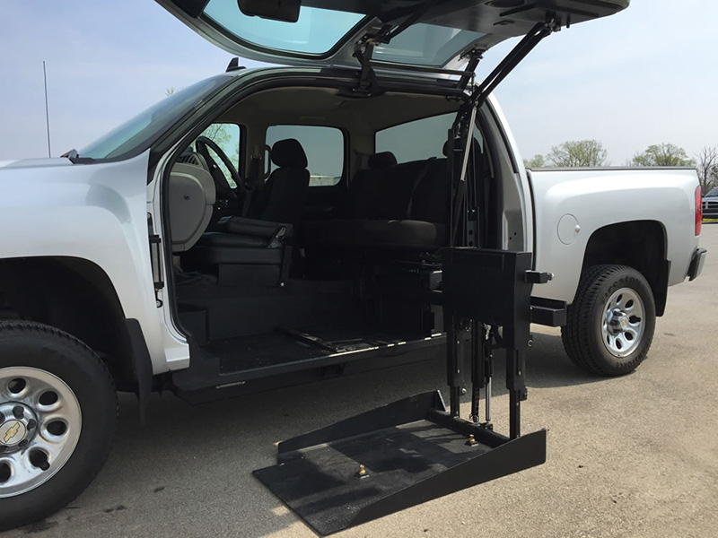 wheelchair car chair and ottoman slipcovers set how a lift for your or truck works