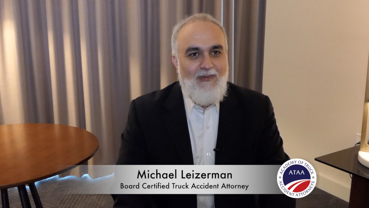 michael leizerman truck accident attorney board certified