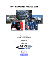 Critical Issues in the Trucking Industry - 2005