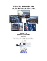 Critical Issues in the Trucking Industry - 2007