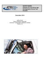 Analysis of Truck Driver Age Demographics Across Two Decades