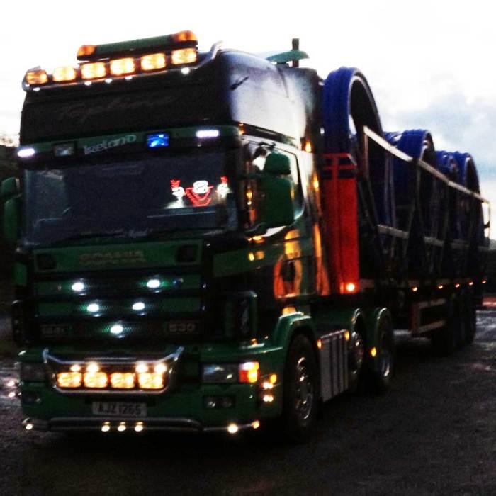 SCANIA Truck light LED logo