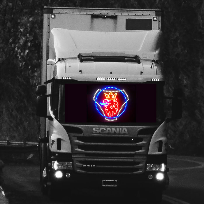 SCANIA Truck light LED logo