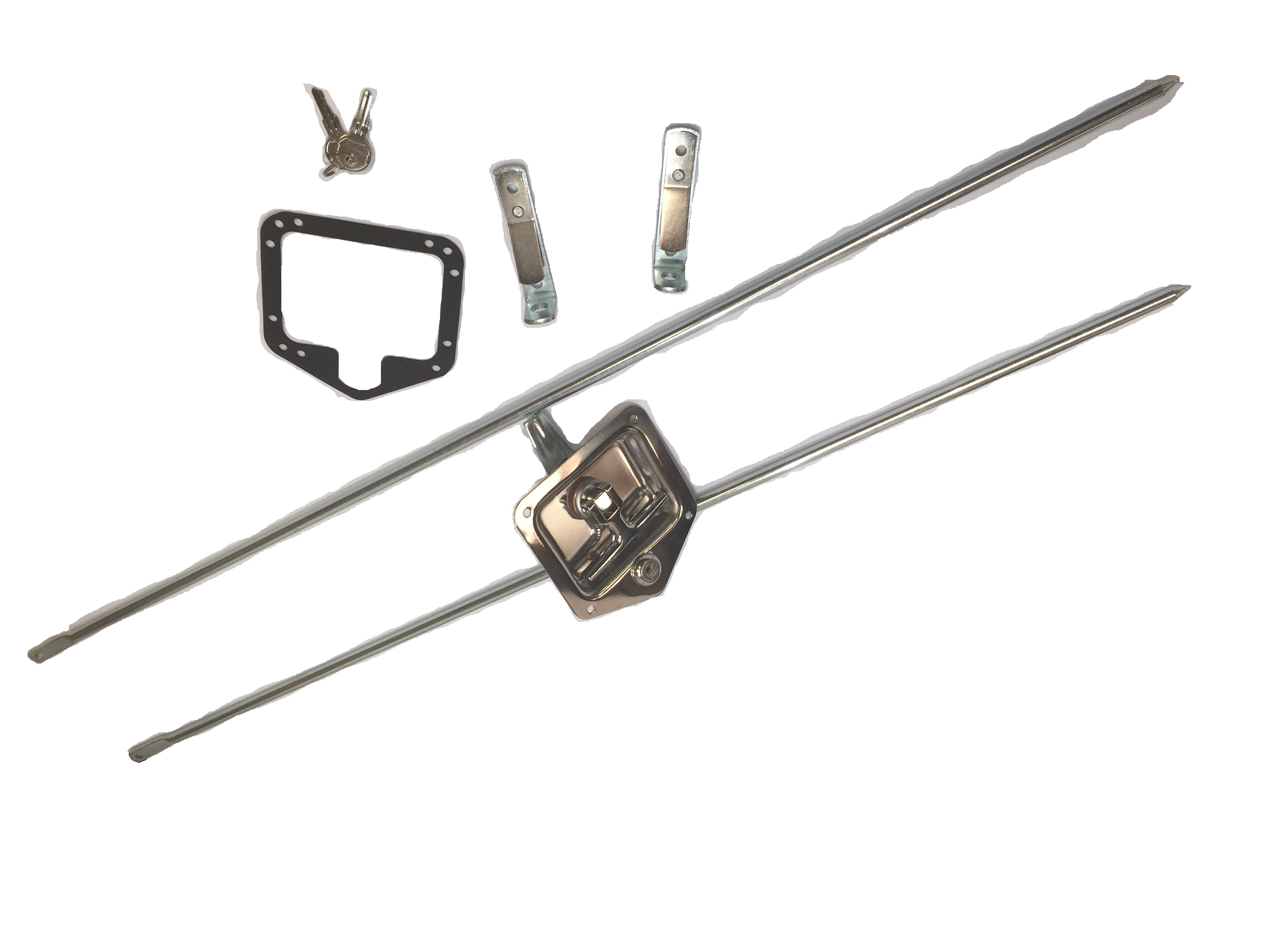 Heavy Duty Stainless Steel Folding T Handle Latch Triple