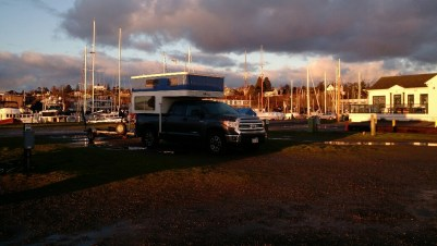 The rig in Point Hudson Marina RV Park.