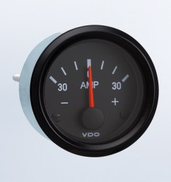 not require external shunt 12v ammeter cockpit international by series instruments displays and clusters vdo instruments and accessories [ 1284 x 750 Pixel ]