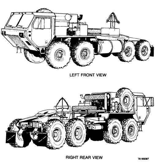 Figure 1-4. M983 Tractor Vehicle without Crane.