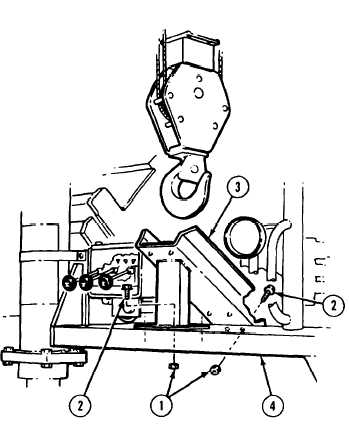 17-17.2 CRANE HOOK BLOCK STOWAGE GUIDE REMOVAL