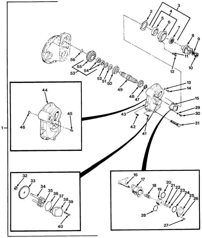 FIG.184 NO. 3 DIFFERENTIAL CARRIER ASSEMBLY (SHEET 1 OF 3)