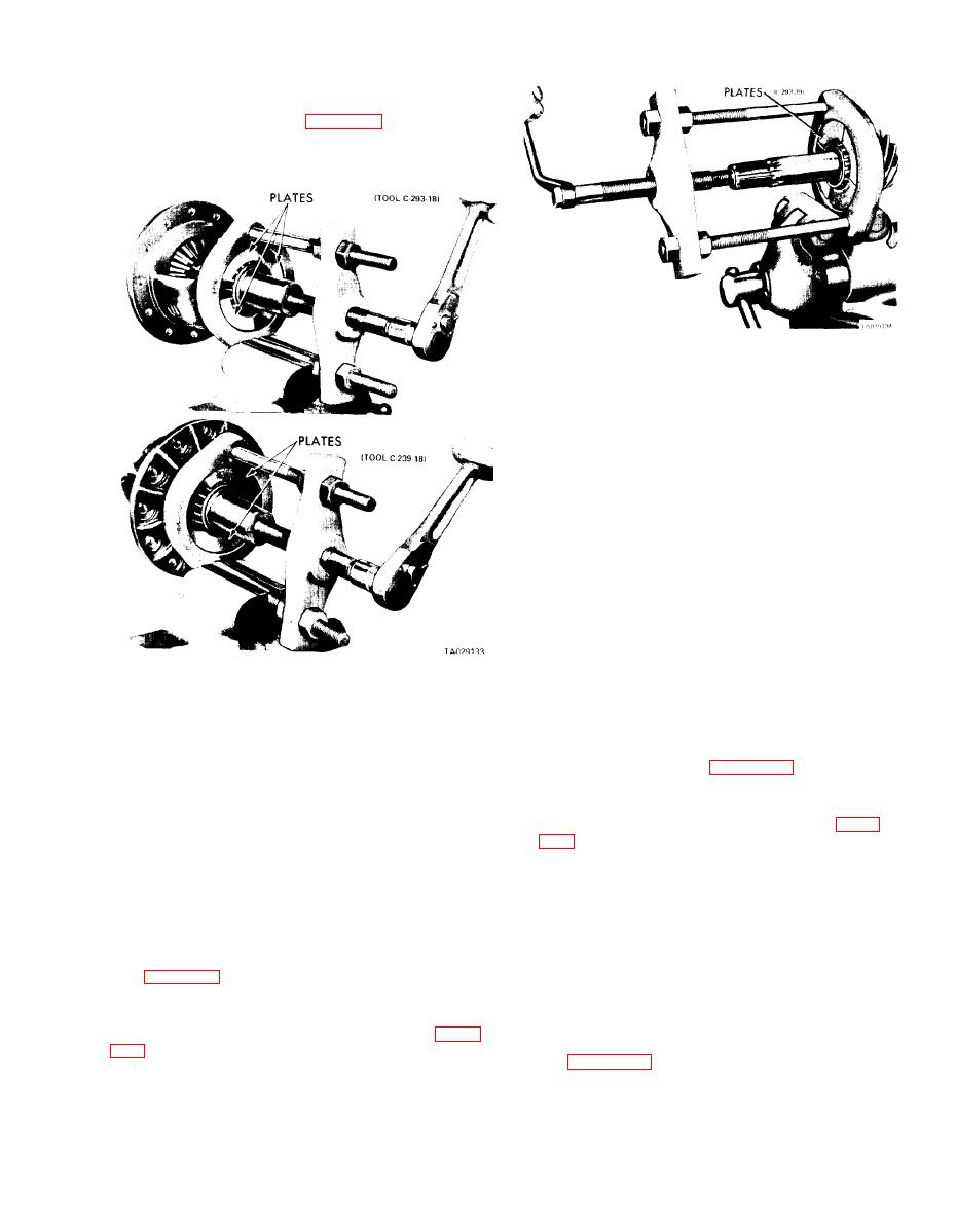 Figure 20-7. Removing Differential Bearings.