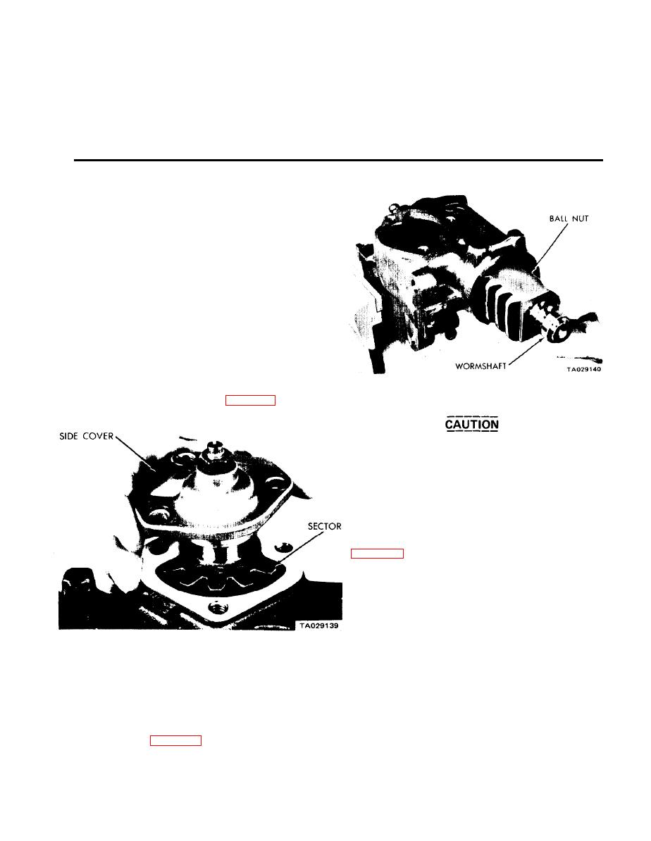 CHAPTER 21. REPAIR OF THE STEERING BOX AND STEERING COLUMN