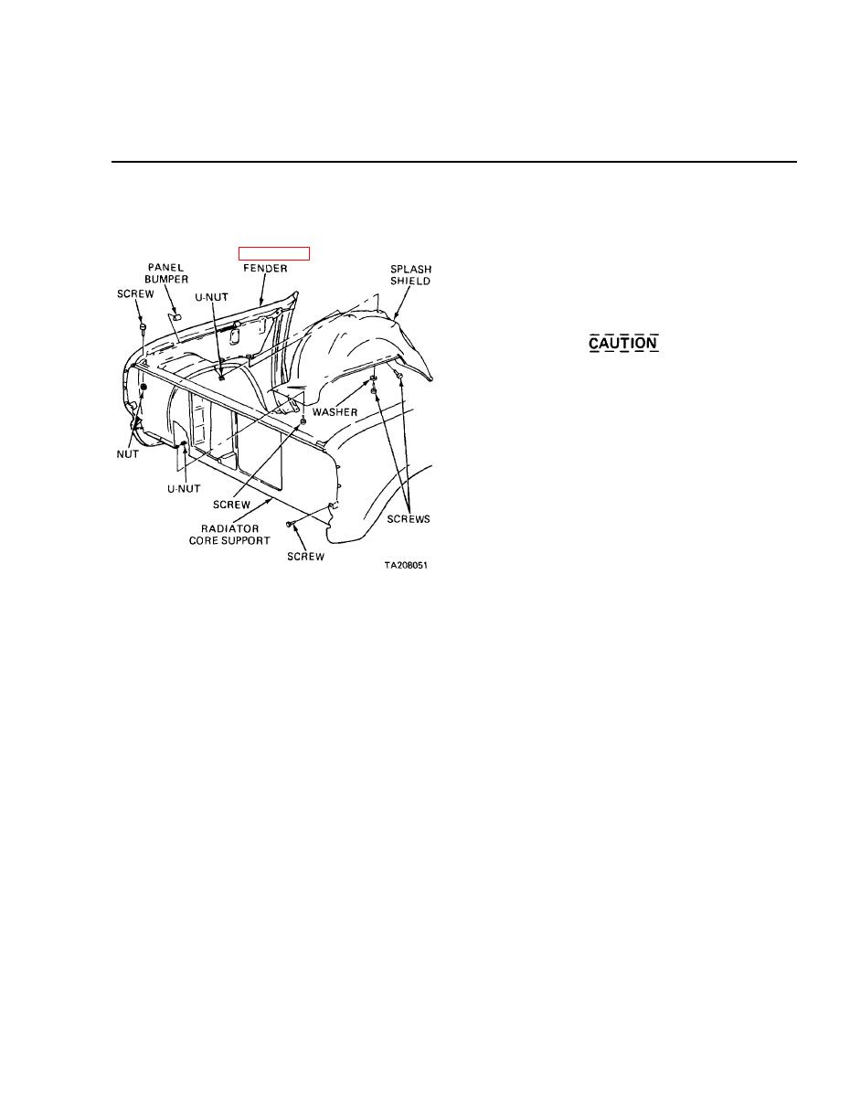 CHAPTER 26. REPLACEMENT OF THE RADIATOR CORE SUPPORT
