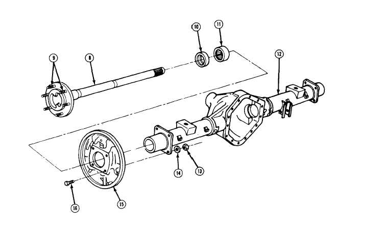6-14. REAR AXLE SHAFT, OUTER SEAL, BEARING, AND BACKING