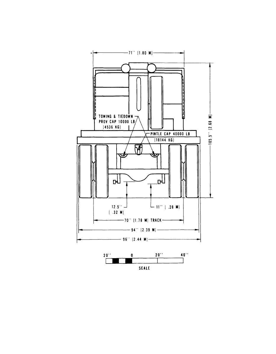 Figure 2-36. Rear elevation, truck, wrecker, M108.