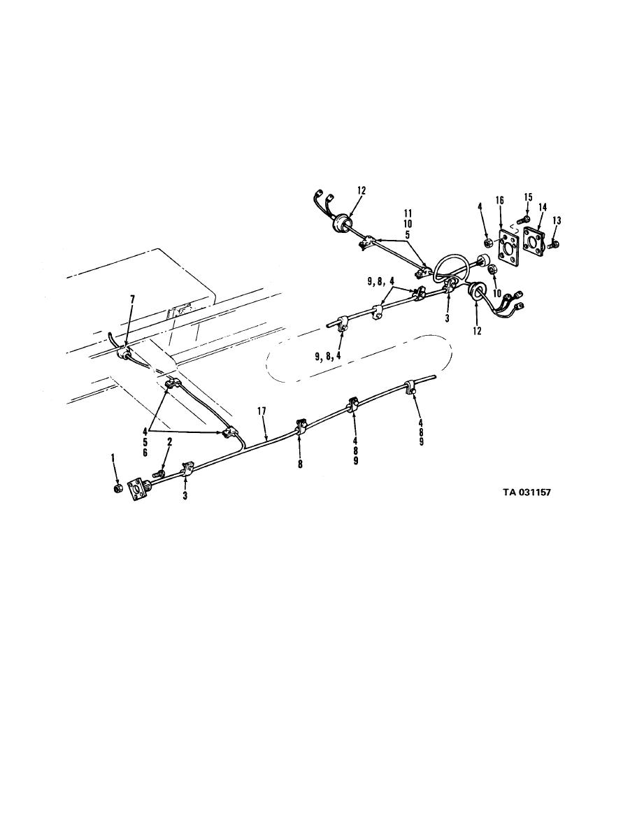 Figure 89A. Rear wiring harness (LDS427  exc tractor)
