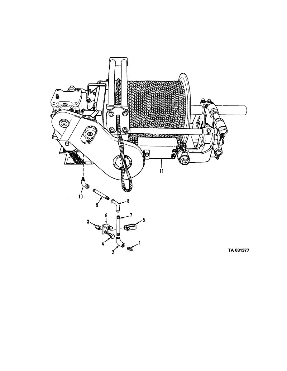 Figure 279A. Rear winch assembly ( V18A/MTQ and M744 trucks).