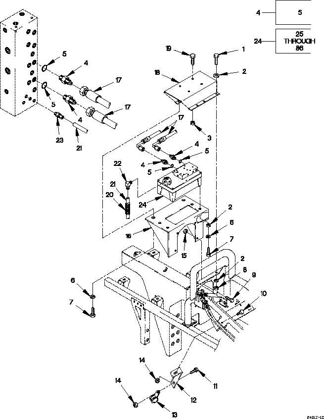 FIGURE 251. AIR/HYDRAULIC POWER UNIT, HOSES AND FITTINGS