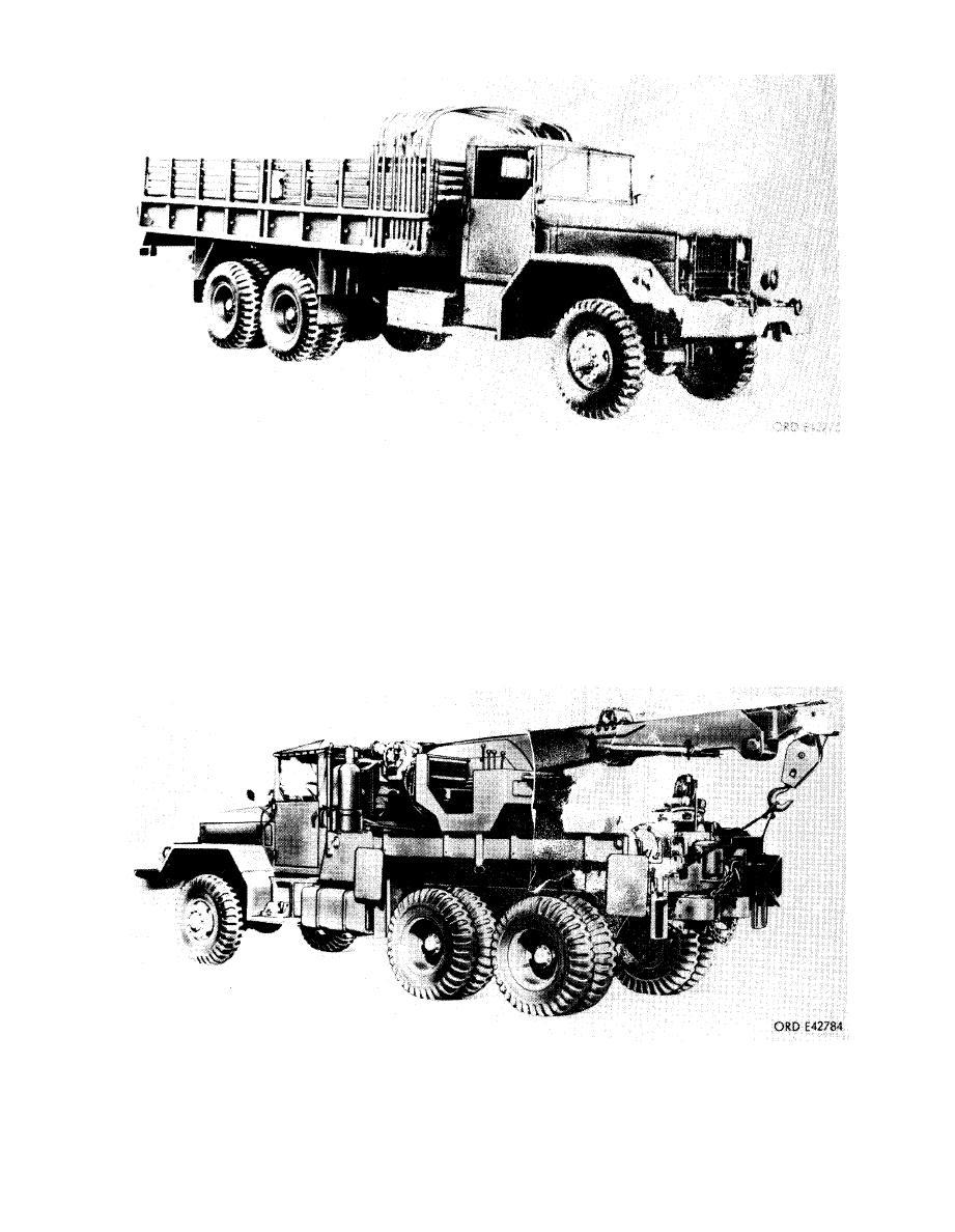 Figure 2-4. Truck, cargo, 5-ton, 6x6, M55.