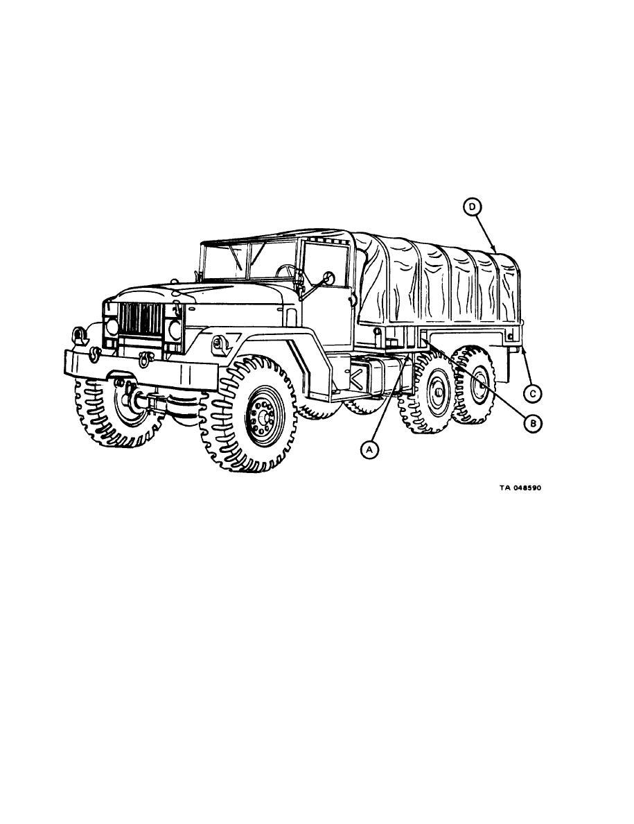 Figure 1-2. M54A2, M54A2C, and M55A2C, Cargo Trucks