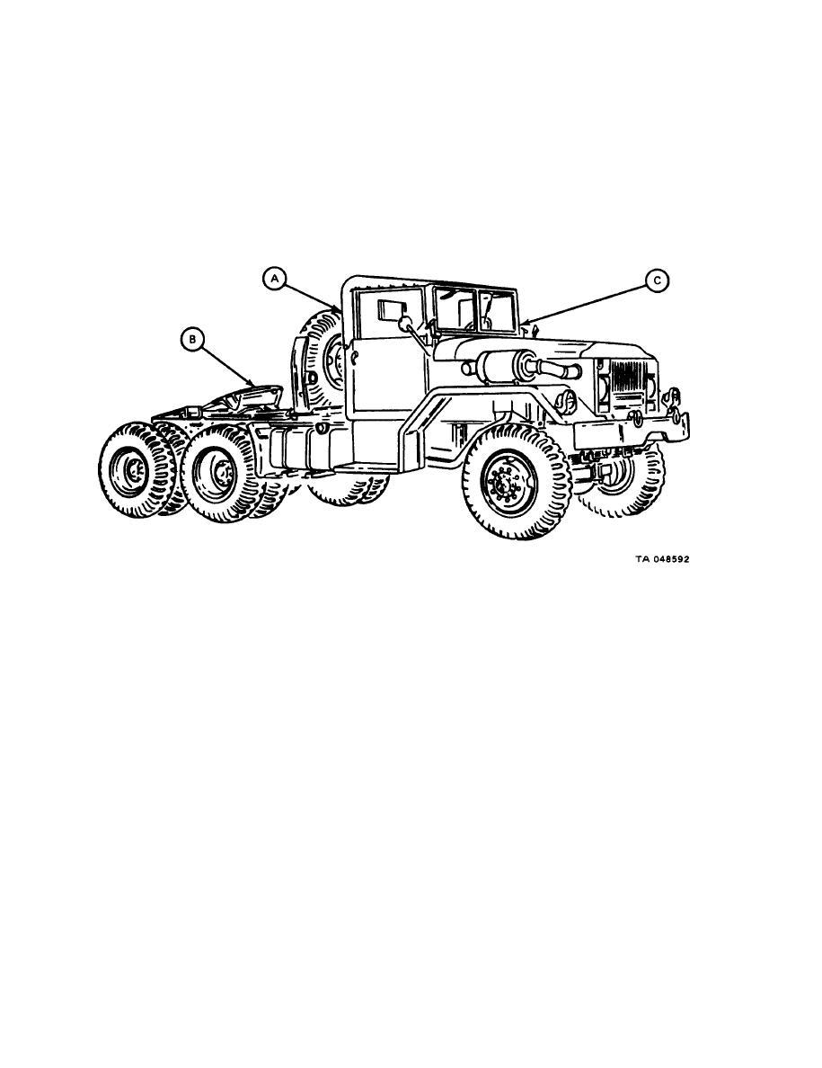 Figure 1-4. M52A2 Tractor Truck, Preventive Maintenance