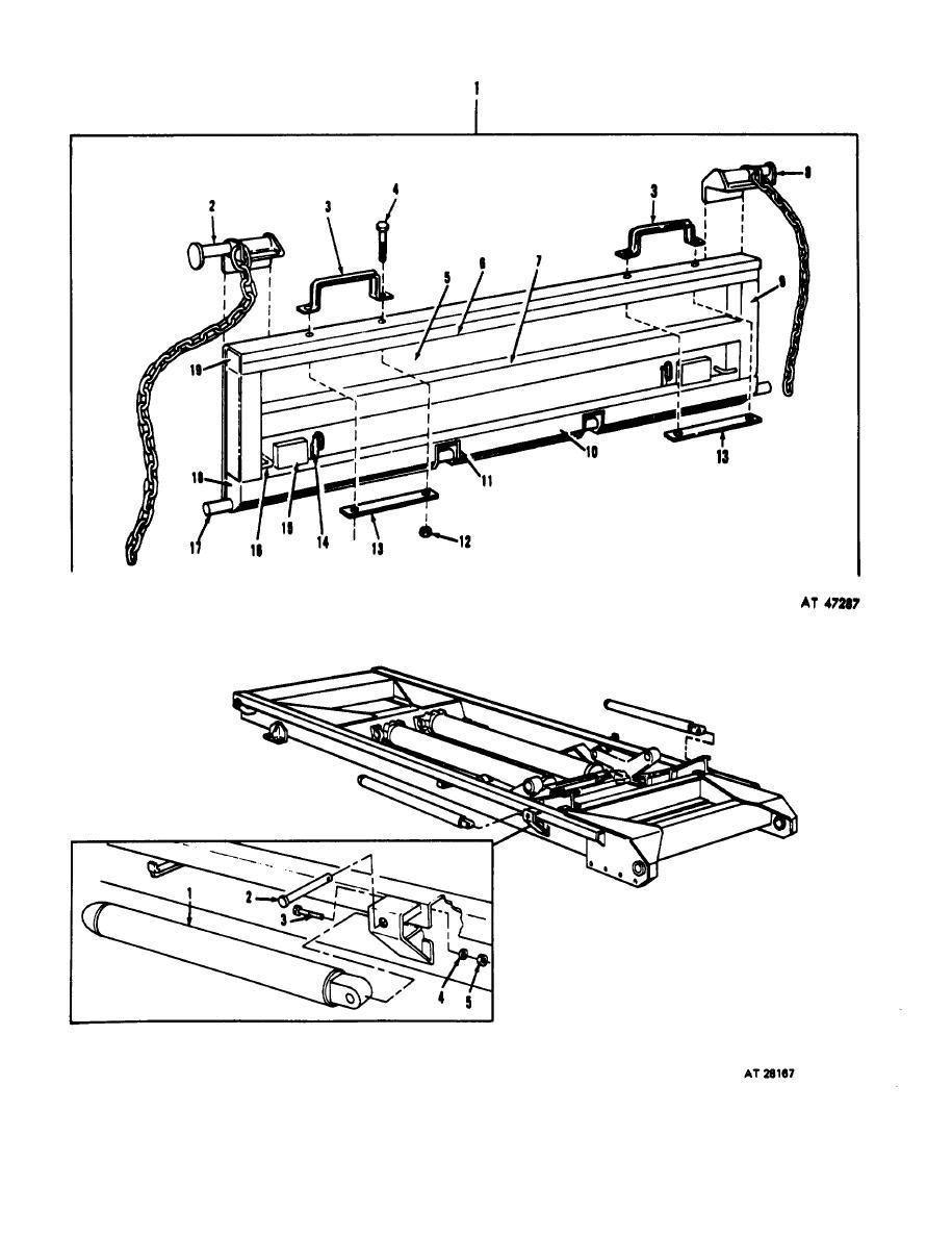 Figure 156. Dump truck tailgate assembly