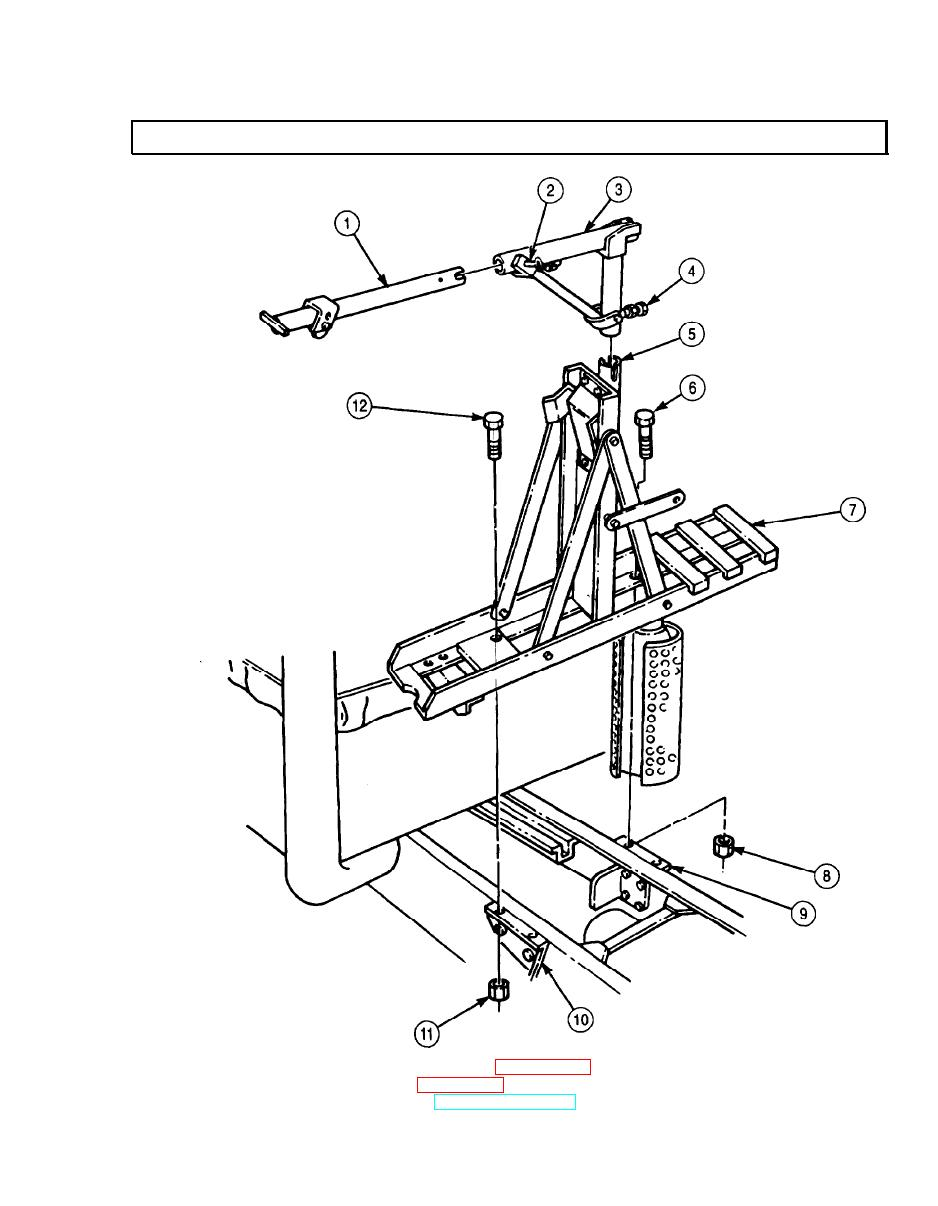 TRACTOR SPARE TIRE CARRIER (M931, M932) REPLACEMENT (Contd)
