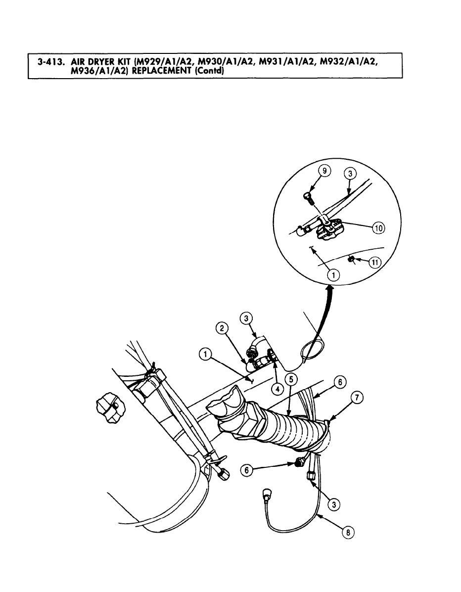 AIR DRYER KIT (M929/A1/A2. M930/A1/A2, M931/A1/A2, M931/A1
