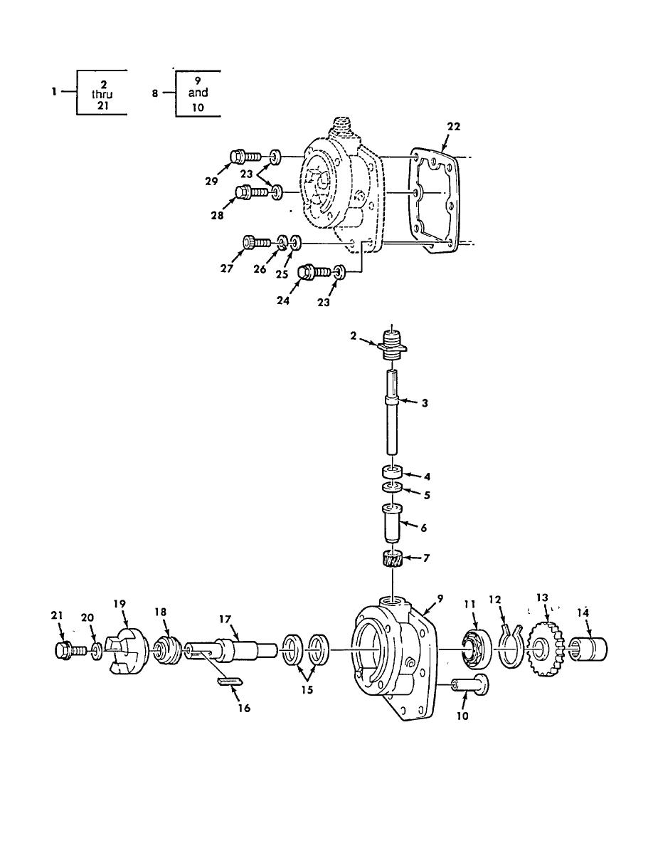 Figure 50. Fuel Pump Governor and Tachometer Drive