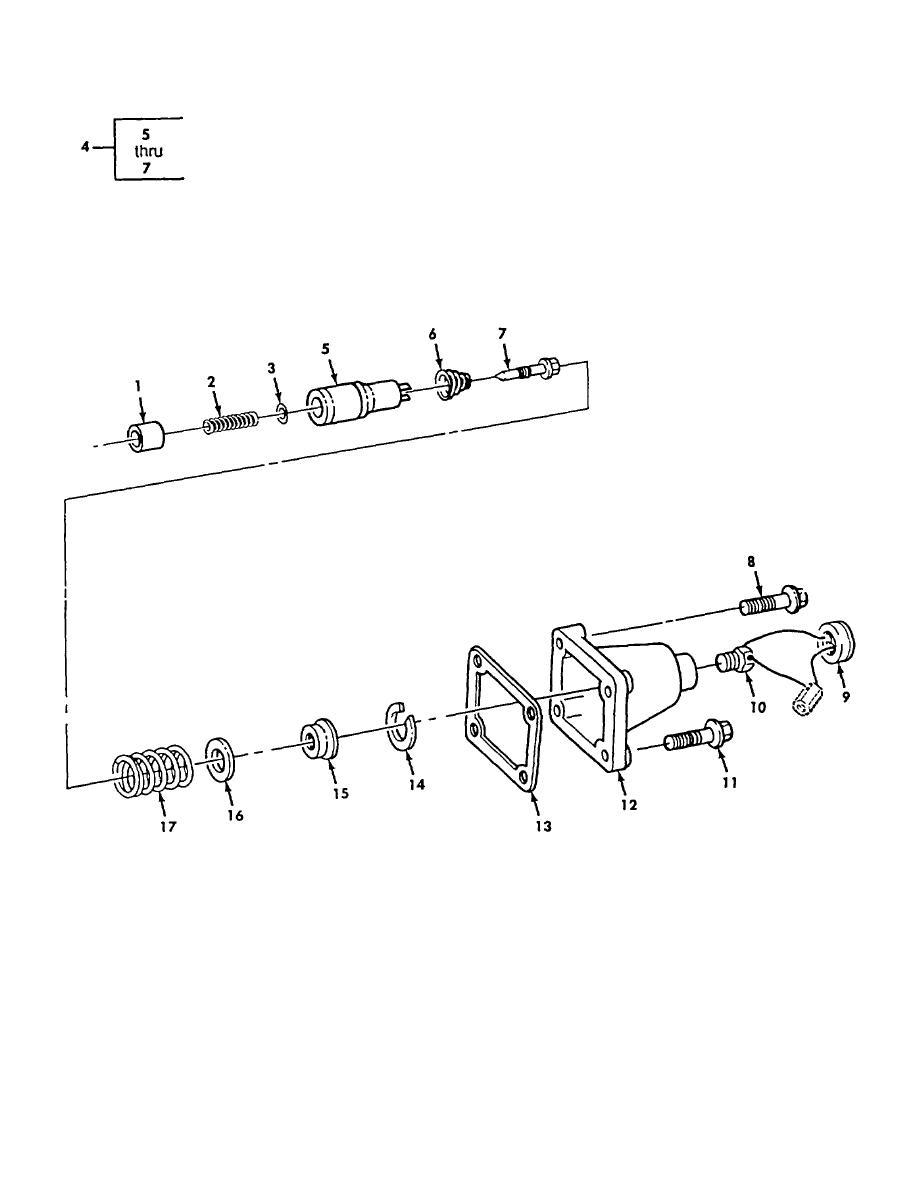 Figure 85. Fuel Pump Spring Pack, AFC (M939, M939A1)
