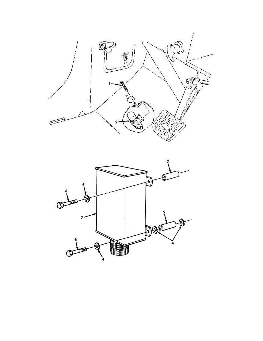 Figure 137. Protective Control Box, High Beam Switch, and