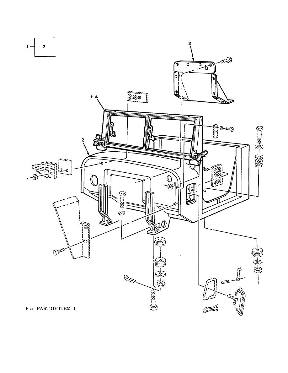Figure 360. Basic Cab Assembly and Engine Cover (M939A2)
