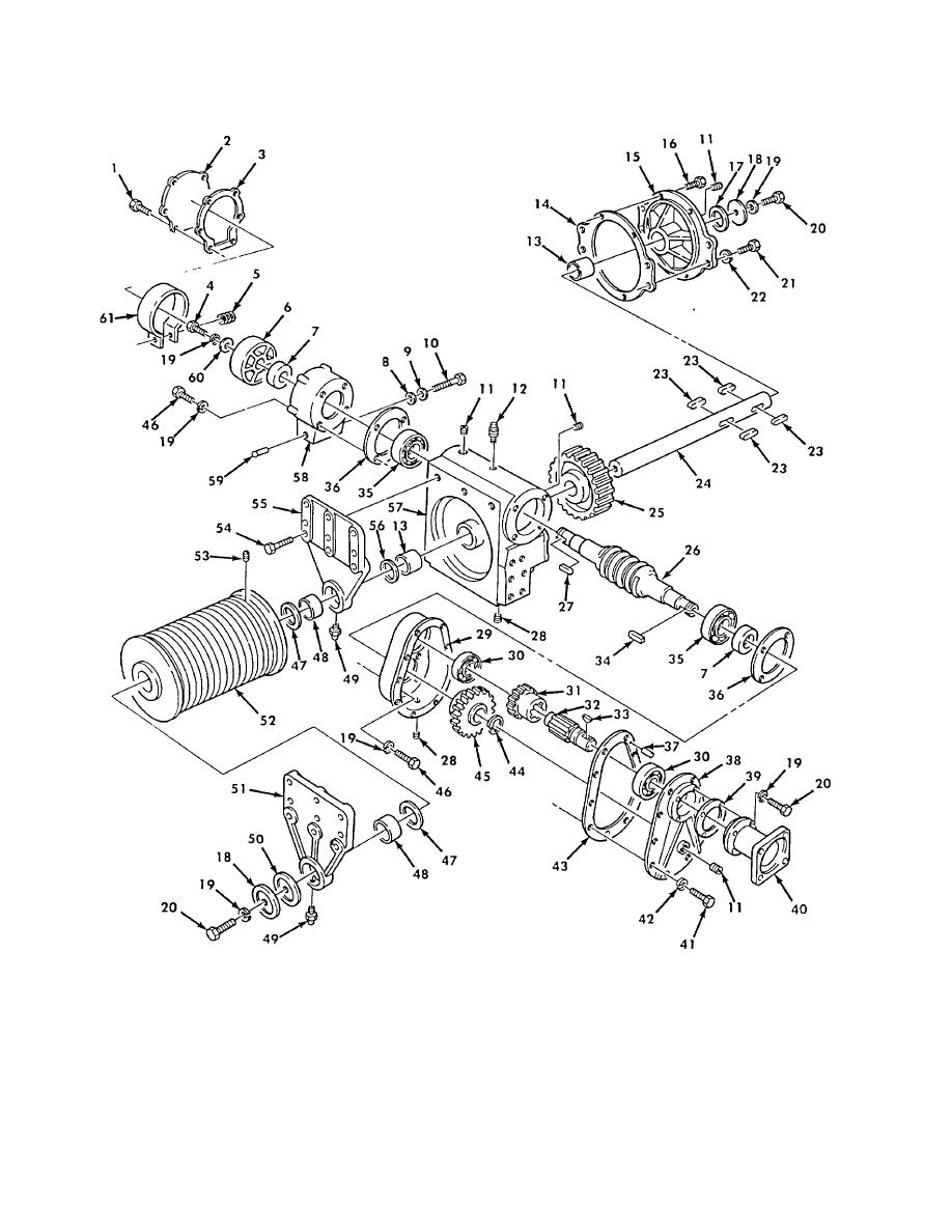 Figure 489. Wrecker Boom Hoist Winch Housing, Worm Gear
