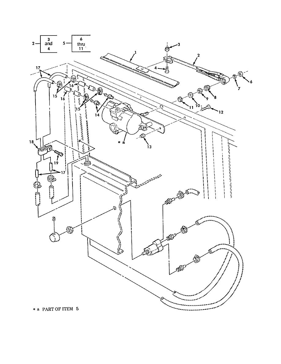 Figure 540. Windshield Wiper Arm, Blade, and Motor