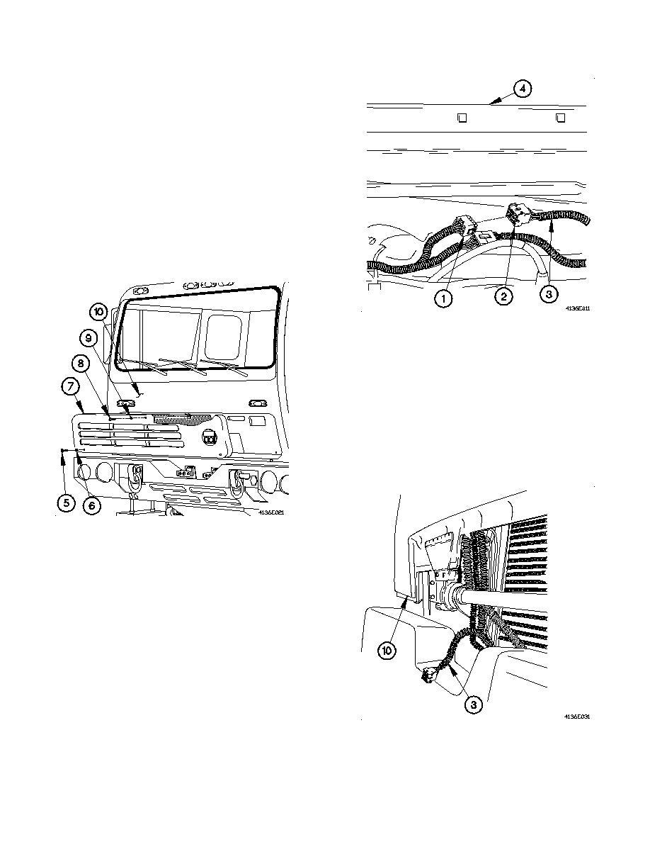 Removal (M1088 w/o winch).