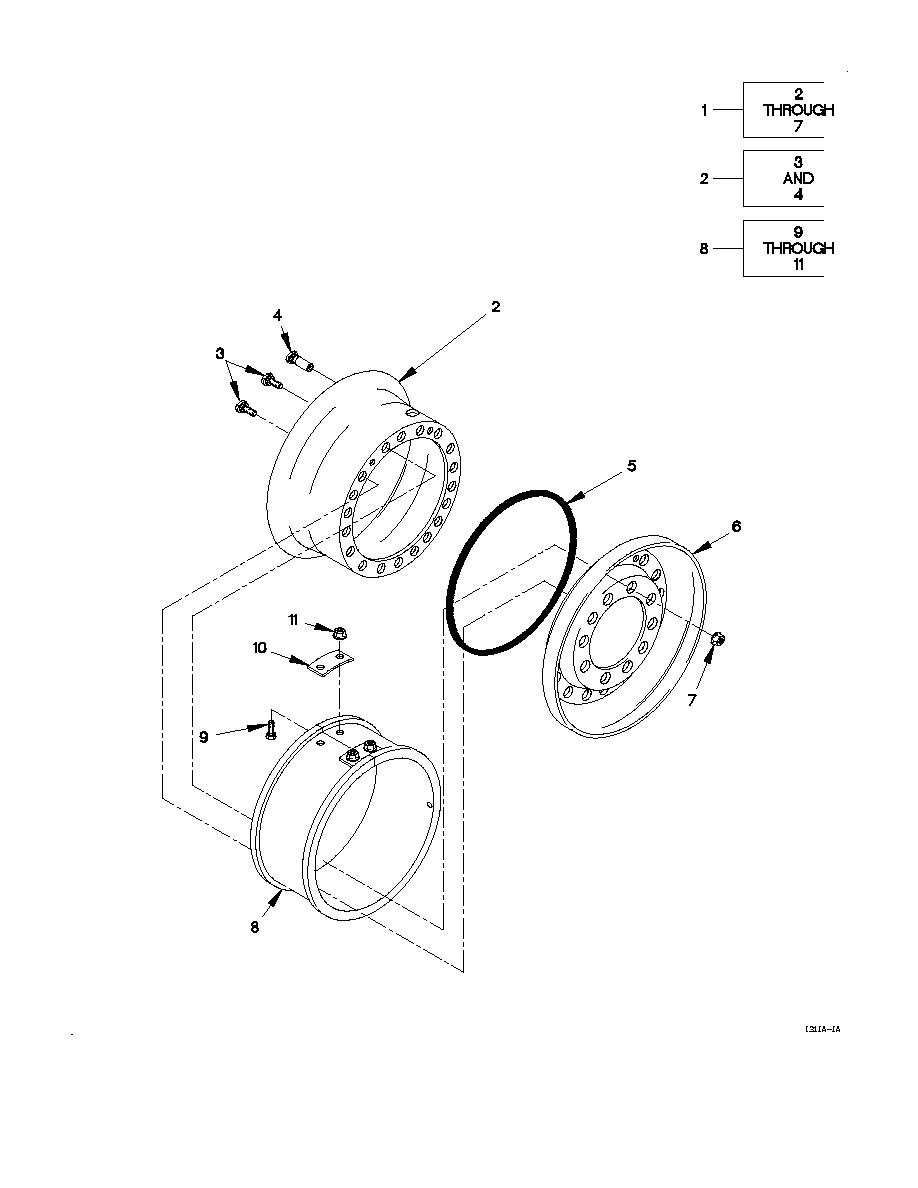 FIGURE 207. WHEEL ASSEMBLY AND CTIS VALVE (SHEET 1 OF 2)
