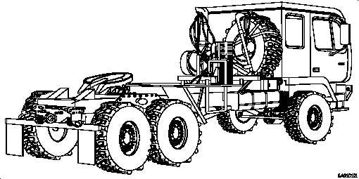 Figure 1-5. M1088 Truck, Tractor: 5-Ton, 6x6