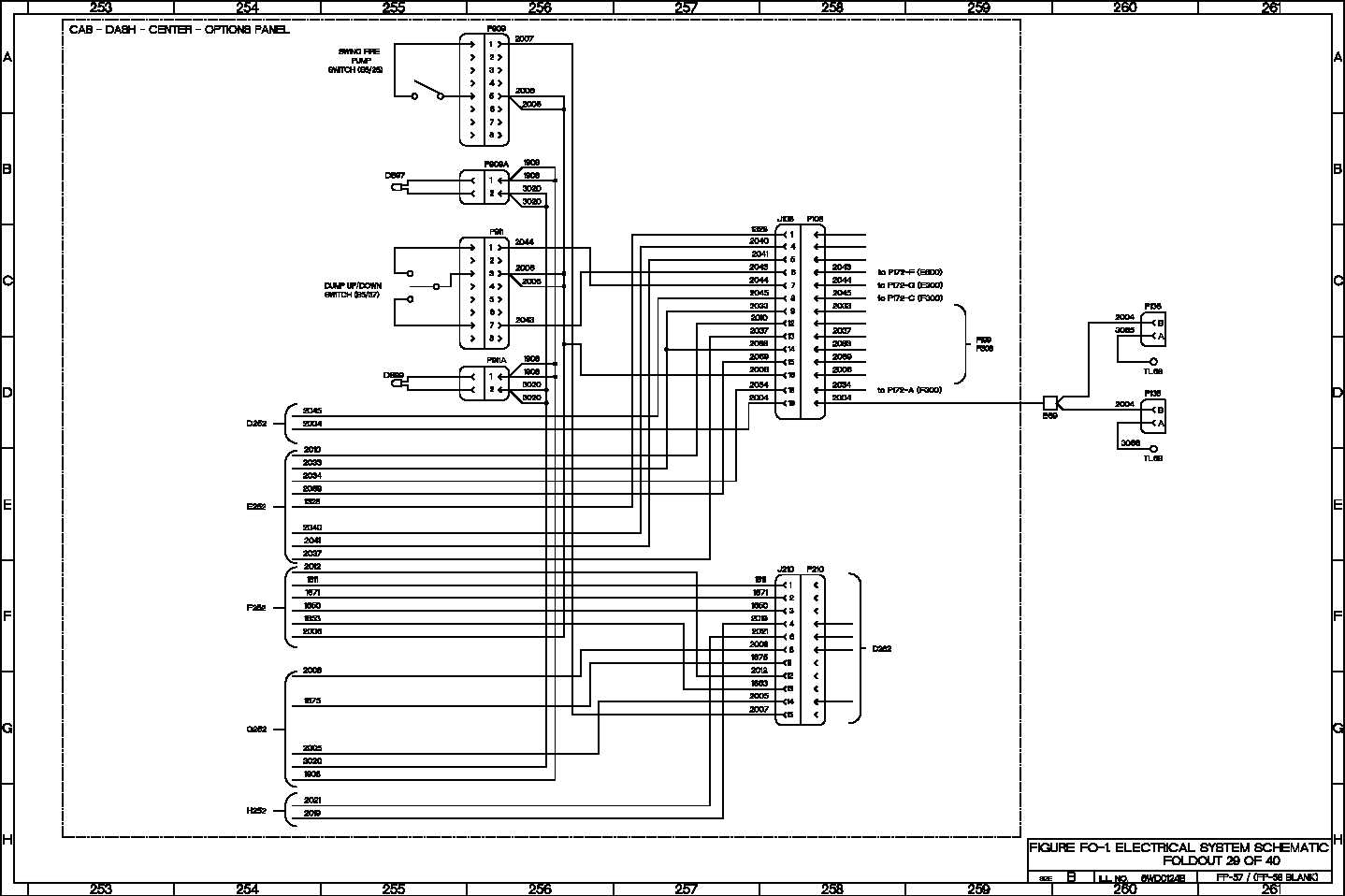 FIGURE FO-1 ELECTRICAL SYSTEM SCHEMATIC FOLDOUT 29 OF 40
