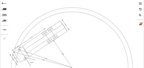 small resolution of in the example pictured directly below the outer arc represents the wall to wall radius and the inner arc the curb to curb radius