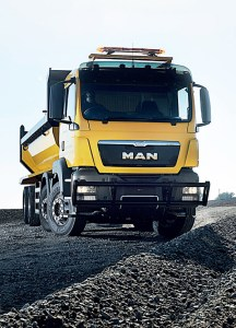 Tough and capable..a MAN truck for mining applications.