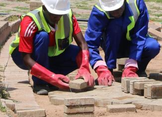 Learners on the construction and supervision programme