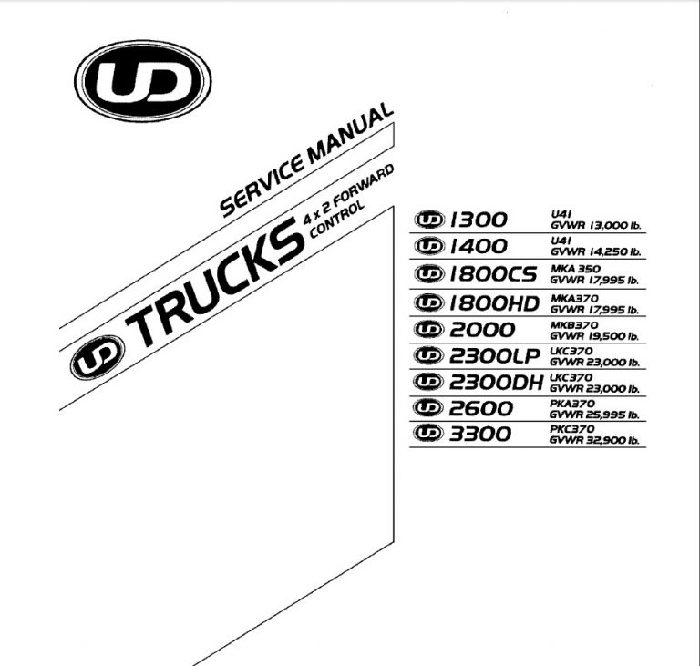 2005-2007 UD 1300 to 3300 Series Service Manual CD