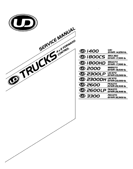 2009 UD 1400-3300 Service Manual CD-ROM